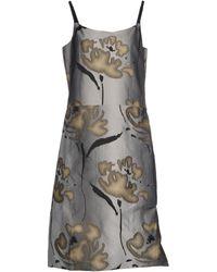 Giorgio Armani 3/4 Length Dress gray - Lyst