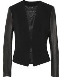 Rag & Bone Pascal Leather-Paneled Crepe Blazer - Lyst