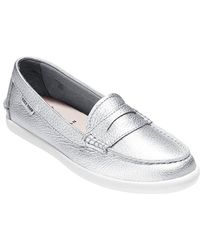 Cole Haan Pinch Weekender Metallic Leather Loafers - Lyst