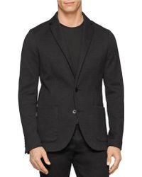 Calvin Klein Premium Cotton Knit Blazer black - Lyst
