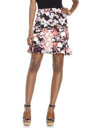 Rampage Printed Trumpet Skirt - Lyst
