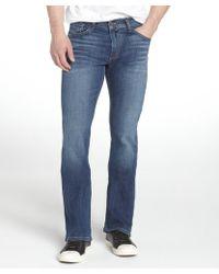 James Jeans Teal Stretch Cotton Denim Bootcut Jeans - Lyst