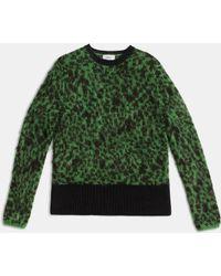COACH | Shrunken Crewneck Sweater | Lyst
