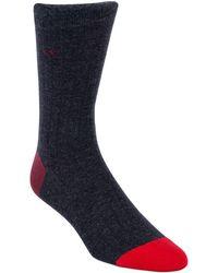 Calvin Klein Egyptian Rib Crew Socks - Lyst