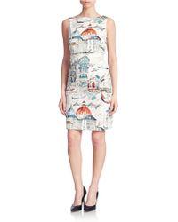 Chetta B Venice Print Shift Dress - Lyst