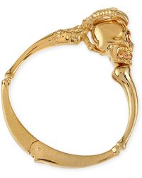 Alexander McQueen Golden Claw Skull Bracelet - Lyst