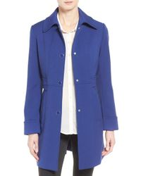 Kenneth Cole - Tailored Single-Breasted Coat - Lyst
