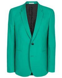 Paul Smith | Men's Slim-fit Green Wool-crepe Blazer | Lyst
