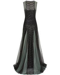 Marios Schwab Full Skirt Lace Gown - Lyst