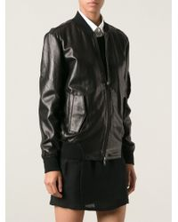 Mm6 By Maison Martin Margiela Bomber Jacket - Lyst