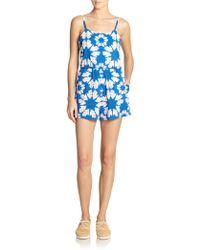 Alice + Olivia Printed Flutter Short Jumpsuit - Lyst