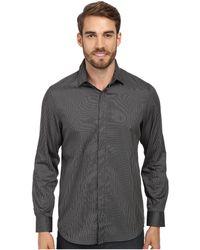 Perry Ellis Slim Fit Non Iron Narrow Stripe Pattern Shirt - Lyst