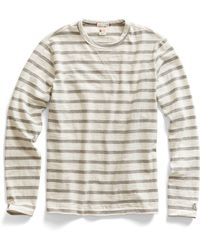 Todd Snyder X Champion Long Sleeve Striped Tee in Grey - Lyst