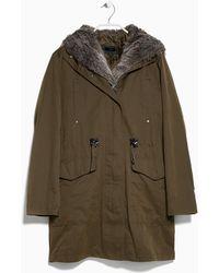 Mango Military Hooded Coat - Lyst