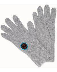 Fendi - Logo Patch Gloves - Lyst