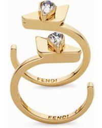 Fendi - Crystal Wonders Rings Crystal Wonders Rings - Lyst