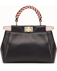 77376dc306e8 Lyst - Fendi Peekaboo Leather   Python Satchel in Black