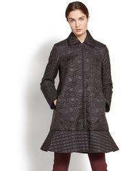 Ferragamo - Gancini Quilted Long Coat - Lyst