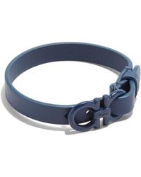 Ferragamo - Double Gancini Leather Bracelet - Lyst