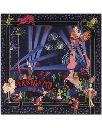 Ferragamo - Silk Hollywood Print Square Scarf - Lyst