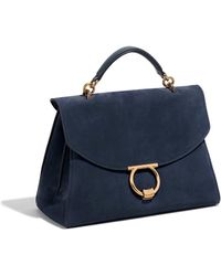 Lyst - Ferragamo Bice Pebbled Leather Tote Bag Malachite in Blue 9fbb6c1dbdaf4