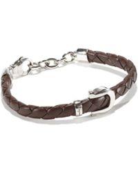 Ferragamo - Woven Leather Bracelet - Lyst