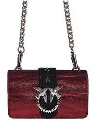 Pinko - Red Zebra Metal Mini Love Bag - Lyst