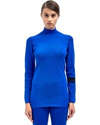 Y-3 Womens Roll Neck Knitted Top - Lyst