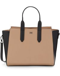 Halston Heritage Convertible Two Toned Leather Tote - Lyst