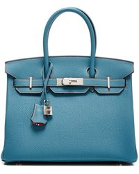 Heritage Auctions Special Collection Hermes 30Cm Blue Jean & Orange H Special Order Togo Birkin - Lyst