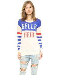Zoe Karssen Belle Heir Sweater - Whitedazzling Blue - Lyst