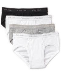 Calvin Klein 4 Pack Low Rise Briefs - Lyst