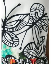 Isola Marras - Butterfly And Flower Print Dress - Lyst