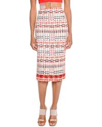 Donna Karan New York Slim Tweed Midi Skirt - Lyst
