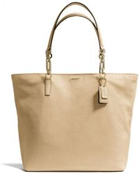 Coach Madison Northsouth Tote in Leather - Lyst