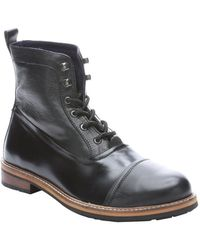 Ben Sherman Black Leather 'Ralph' Lace-Up Ankle Boots black - Lyst