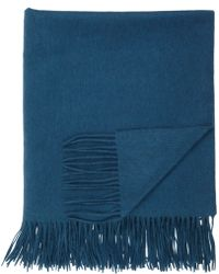 Sofia Cashmere Teal Cashmere Throw - Lyst