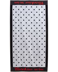 Moschino Black & White Polka Dot Beach Towel - Lyst