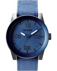 Nixon Corporal Blue Ano Watch blue - Lyst