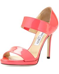 Jimmy Choo Alana Patent Double-band Sandal - Lyst
