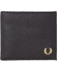 Fred Perry - Plain Bi-Fold Wallet - Lyst