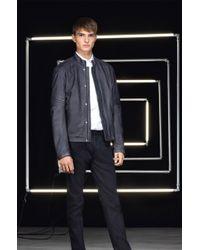 Hugo Landix  Leather Motorcycle Jacket - Lyst