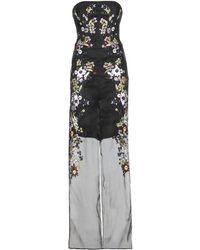 Erdem Una Embroidered Silk-Blend Organza Jumpsuit - Lyst