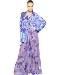 Missoni Printed Silk Crepe Shirt - Lyst
