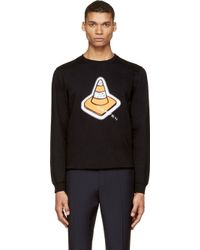 Carven Black Logo Embroidered Traffic Cone Sweatshirt - Lyst