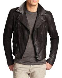 Belstaff Phoenix Sueded Moto Leather Jacket - Lyst