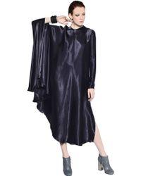 Lanvin Fluid Viscose Satin Dress - Lyst