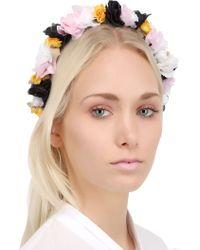 Francesco Ballestrazzi - Silk Lace Flowers Headband - Lyst