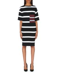 Stella McCartney Striped Stretch-Knit Dress - For Women - Lyst