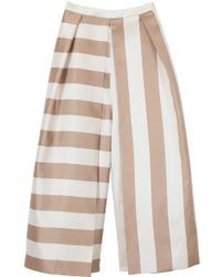 Tibi Escalante Striped Silk Culottes - Lyst